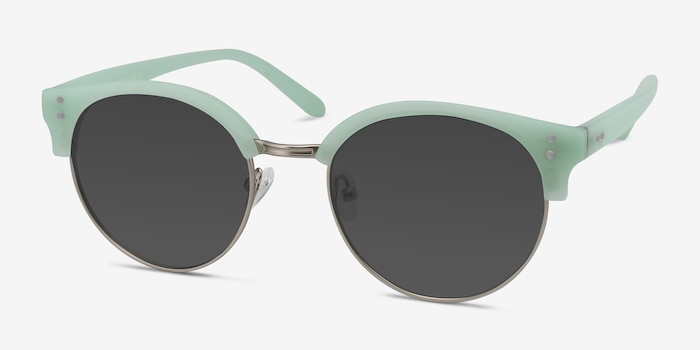 Samba Mint Frost Plastic-metal Sunglass Frames from EyeBuyDirect, Angle View