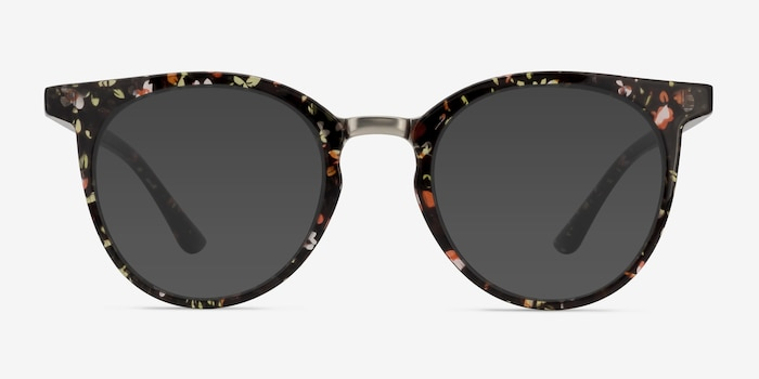Lulu Floral Plastic Sunglass Frames from EyeBuyDirect, Front View