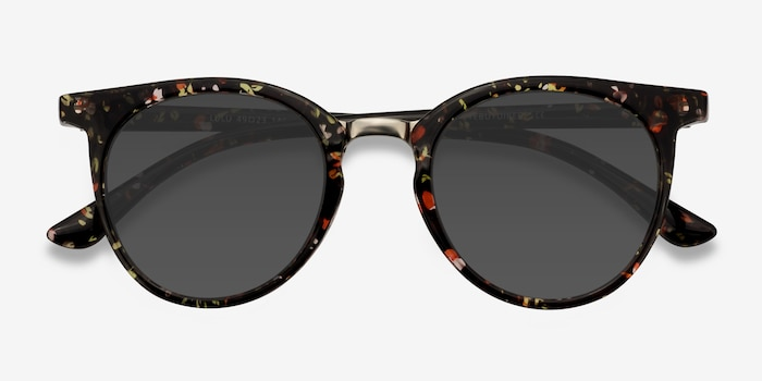 Lulu Floral Plastic Sunglass Frames from EyeBuyDirect, Closed View