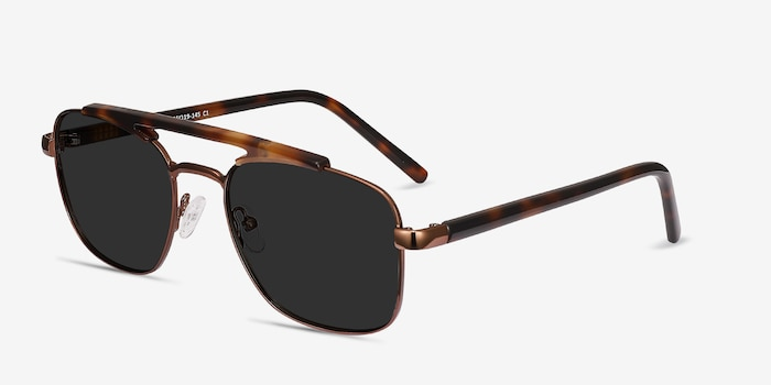 Decode Tortoise Brown Acetate Sunglass Frames from EyeBuyDirect, Angle View