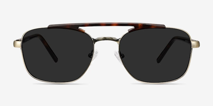 Decode Tortoise Bronze Acetate-metal Sunglass Frames from EyeBuyDirect, Front View