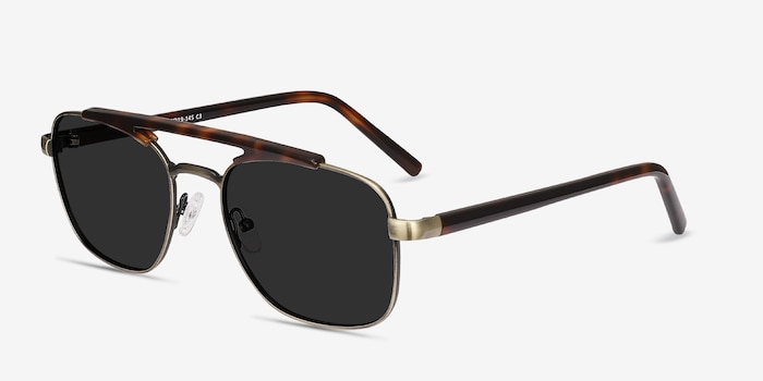 Decode Tortoise Bronze Acetate Sunglass Frames from EyeBuyDirect, Angle View