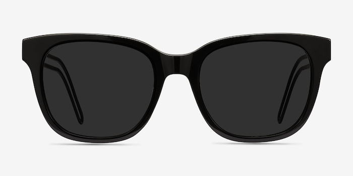 Circuit Black Acetate Sunglass Frames from EyeBuyDirect, Front View