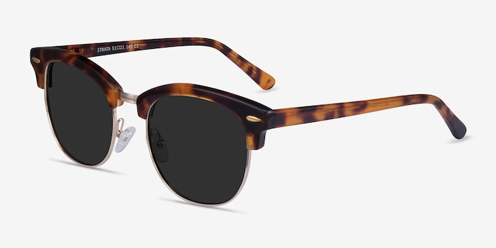 Strata Tortoise Acetate-metal Sunglass Frames from EyeBuyDirect, Angle View