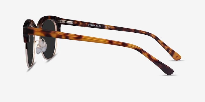 Strata Tortoise Acetate-metal Sunglass Frames from EyeBuyDirect, Side View