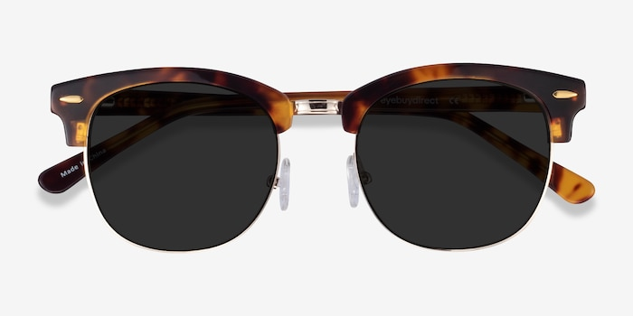 Strata Tortoise Acetate Sunglass Frames from EyeBuyDirect, Closed View
