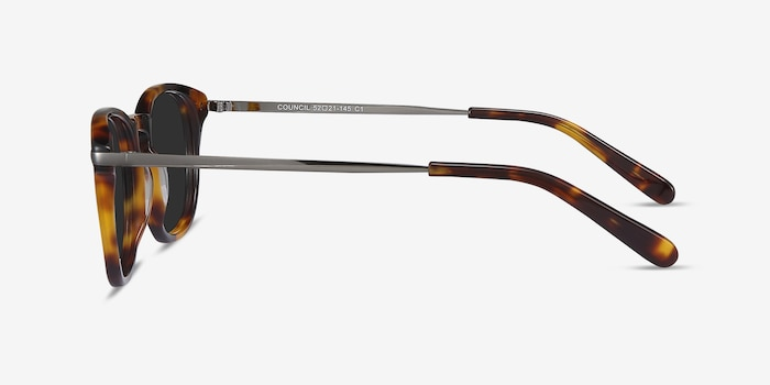 Council Tortoise Acetate Sunglass Frames from EyeBuyDirect, Side View