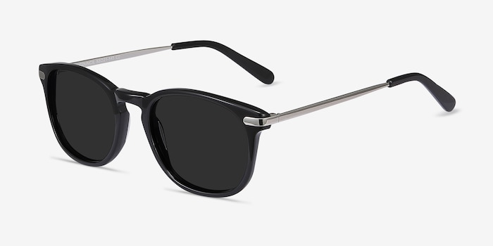 Council Black Acetate Sunglass Frames from EyeBuyDirect, Angle View