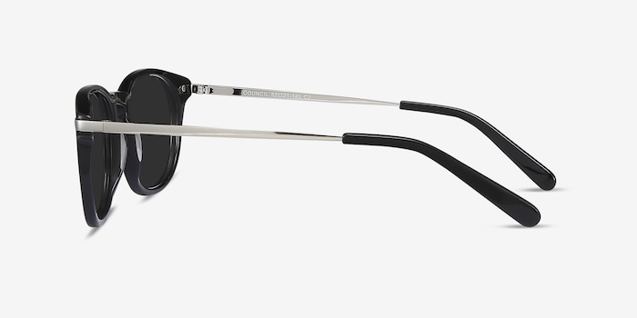 Council Black Acetate Sunglass Frames from EyeBuyDirect, Side View