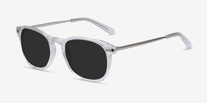 Council Clear Acetate Sunglass Frames from EyeBuyDirect, Angle View