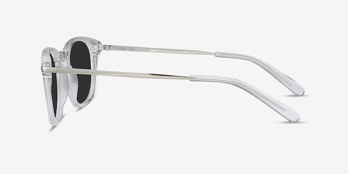 Council Clear Acetate Sunglass Frames from EyeBuyDirect, Side View