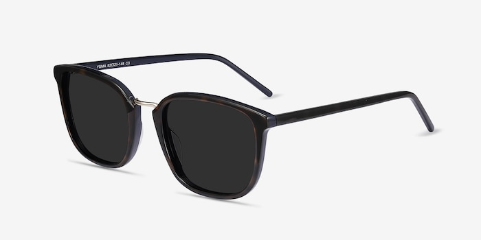 Yuma Tortoise Acetate-metal Sunglass Frames from EyeBuyDirect, Angle View