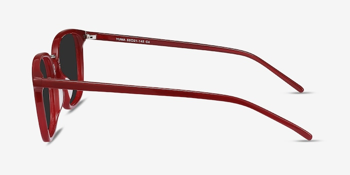 Yuma Red Metal Sunglass Frames from EyeBuyDirect, Side View