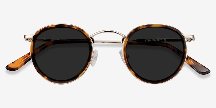 Rollin Tortoise Acetate Sunglass Frames from EyeBuyDirect, Closed View