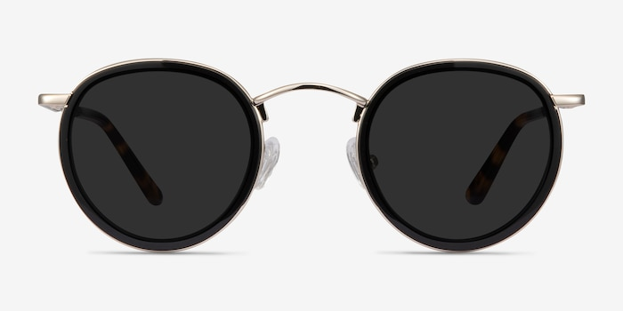 Rollin Black Acetate Sunglass Frames from EyeBuyDirect, Front View