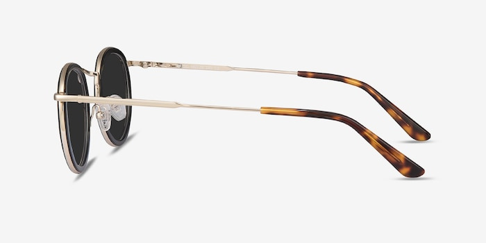 Critic Black Acetate Sunglass Frames from EyeBuyDirect, Side View