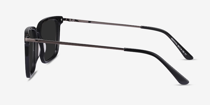 Griffith Black Metal Sunglass Frames from EyeBuyDirect, Side View