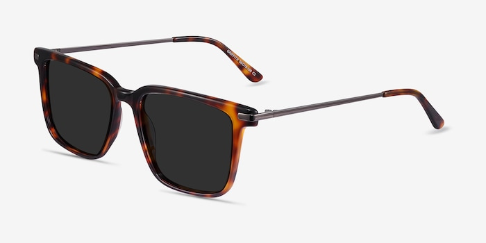 Griffith Tortoise Metal Sunglass Frames from EyeBuyDirect, Angle View