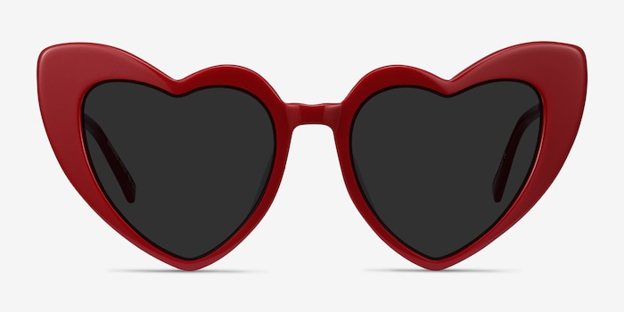 Darling Burgundy Acetate-metal Sunglass Frames from EyeBuyDirect, Front View