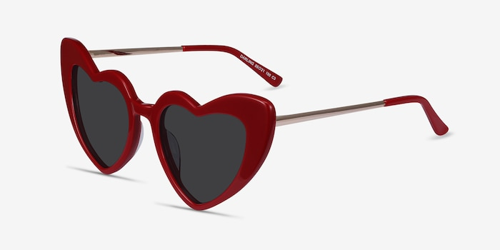 Darling Burgundy Acetate-metal Sunglass Frames from EyeBuyDirect, Angle View