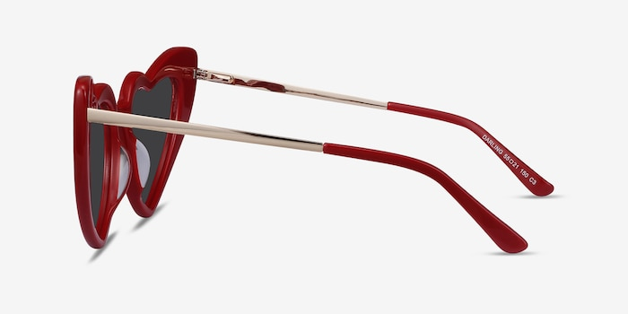 Darling Burgundy Acetate-metal Sunglass Frames from EyeBuyDirect, Side View
