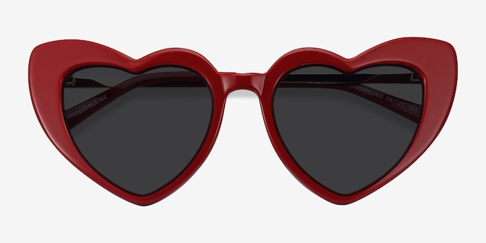 Darling Burgundy Acetate-metal Sunglass Frames from EyeBuyDirect, Closed View