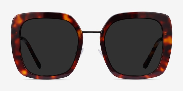 Canopy Tortoise Acetate-metal Sunglass Frames from EyeBuyDirect, Front View