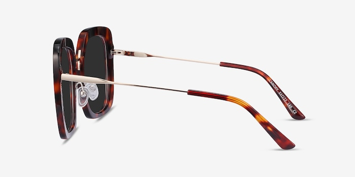 Canopy Tortoise Acetate-metal Sunglass Frames from EyeBuyDirect, Side View