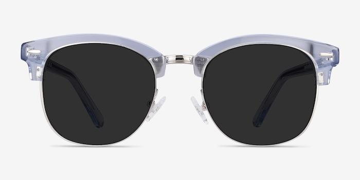 Strata Clear Blue Acetate-metal Soleil de Lunette de vue d'EyeBuyDirect, Vue de Face