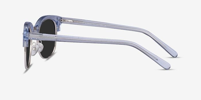 Strata Clear Blue Acetate Sunglass Frames from EyeBuyDirect, Side View