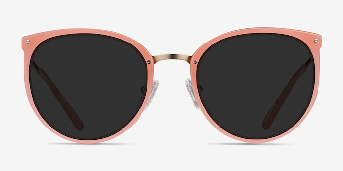 Crush Coral Metal Sunglass Frames from EyeBuyDirect, Front View