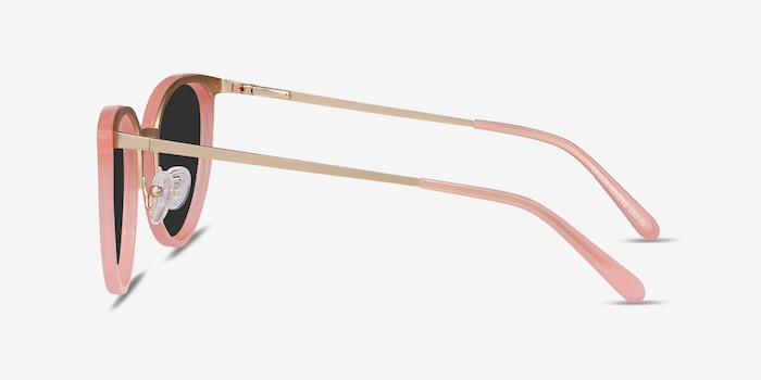 Crush Coral Metal Sunglass Frames from EyeBuyDirect, Side View