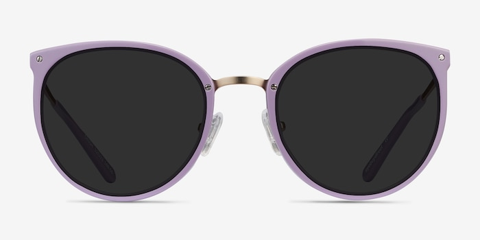 Crush Lavender Metal Sunglass Frames from EyeBuyDirect, Front View