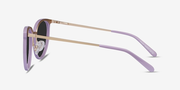 Crush Lavender Acetate Sunglass Frames from EyeBuyDirect, Side View