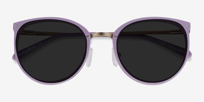 Crush Lavender Metal Sunglass Frames from EyeBuyDirect, Closed View