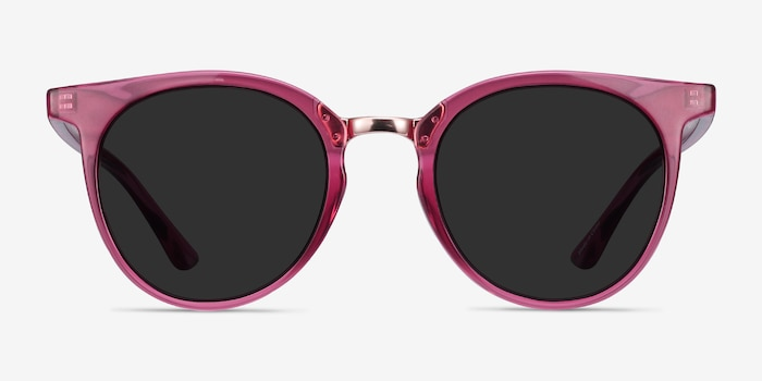 Lulu Raspberry Metal Sunglass Frames from EyeBuyDirect, Front View