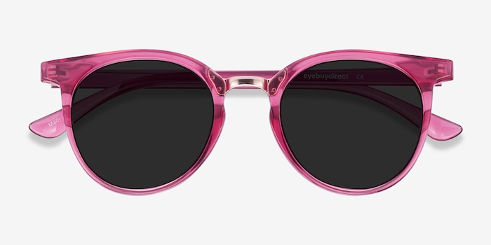 Lulu Raspberry Metal Sunglass Frames from EyeBuyDirect, Closed View