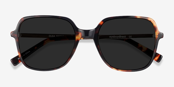 Olga Tortoise & Gold Acetate-metal Sunglass Frames from EyeBuyDirect, Closed View