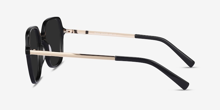 Olga Black & Gold Acetate-metal Sunglass Frames from EyeBuyDirect, Side View