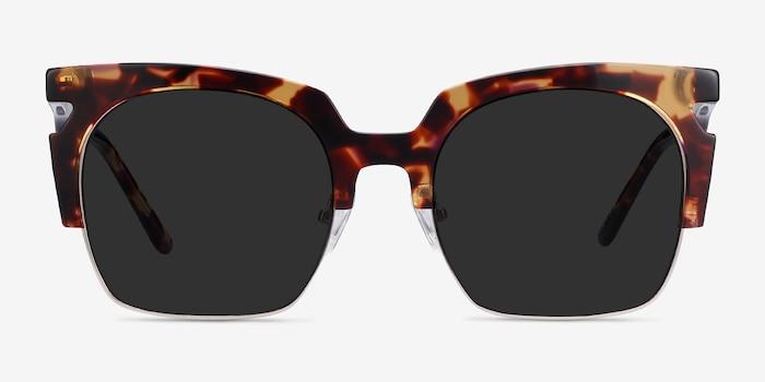 Ilsa Écailles Acetate-metal Soleil de Lunette de vue d'EyeBuyDirect, Vue de Face