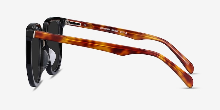 Shannon Black & Tortoise Acetate Sunglass Frames from EyeBuyDirect, Side View