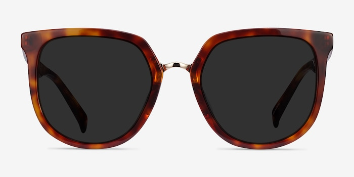 Shannon Tortoise Acetate Sunglass Frames from EyeBuyDirect, Front View