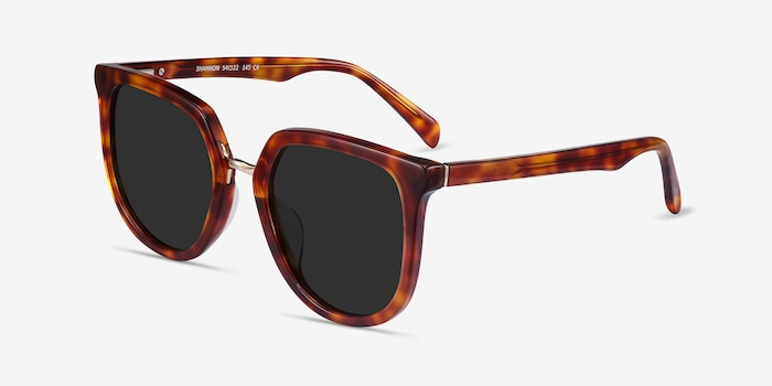 Shannon Tortoise Acetate Sunglass Frames from EyeBuyDirect, Angle View