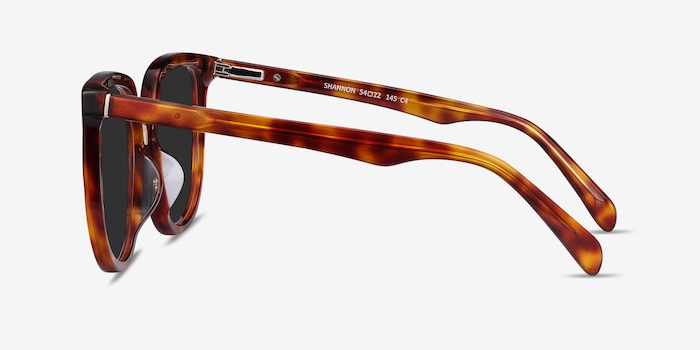Shannon Tortoise Acetate Sunglass Frames from EyeBuyDirect, Side View