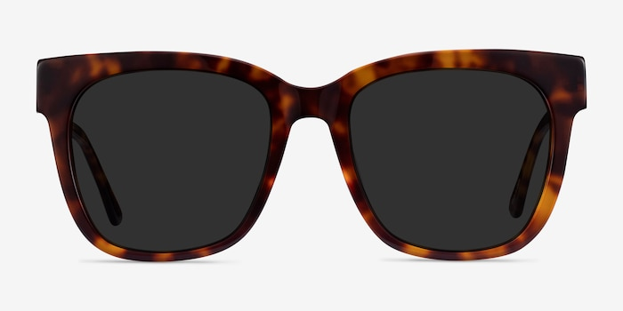 Erica Tortoise Acetate-metal Sunglass Frames from EyeBuyDirect, Front View