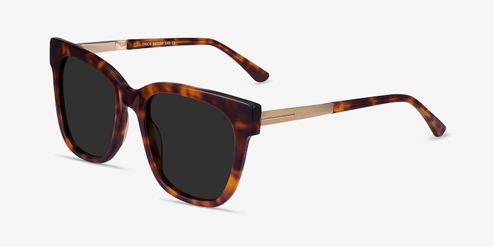 Erica Tortoise Acetate-metal Sunglass Frames from EyeBuyDirect, Angle View