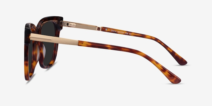 Erica Tortoise Acetate-metal Sunglass Frames from EyeBuyDirect, Side View