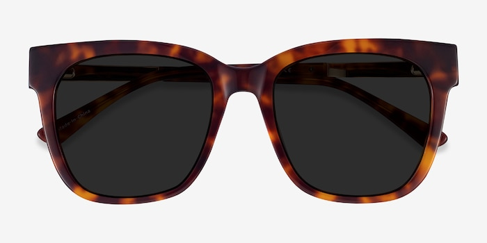 Erica Tortoise Acetate-metal Sunglass Frames from EyeBuyDirect, Closed View