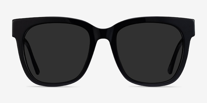 Erica Black Acetate-metal Sunglass Frames from EyeBuyDirect, Front View
