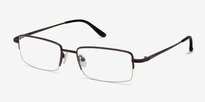 Graphic  Coffee  Titanium Eyeglass Frames from EyeBuyDirect, Angle View